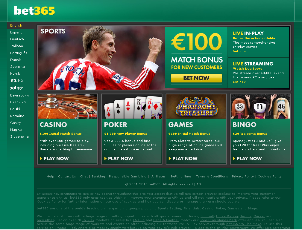 Bet365 casino free games